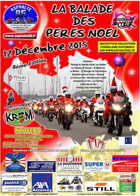 Père Noël en moto - Les Sables d'Olonne 2015