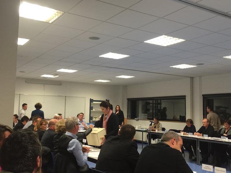 L'urne de l'un des votes à la CCO Olonnes