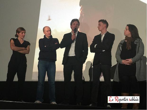 L'Equipe du film Tempête, Catherine Paillé, Samuel Collardey, Dominique Leborne et ses deux enfants Matteo et Maïlys
