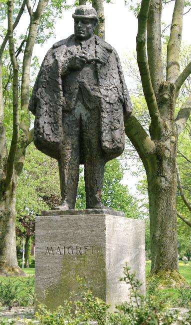 Statue de Maigret à Delfzijl