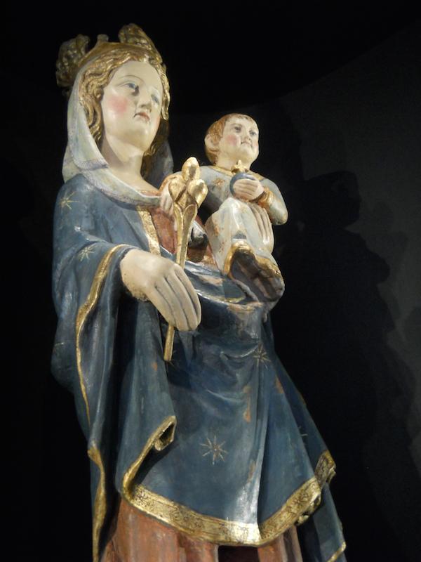 Notre-Dame-de-la-Roche - Bois polychrome du XIV° siècle.