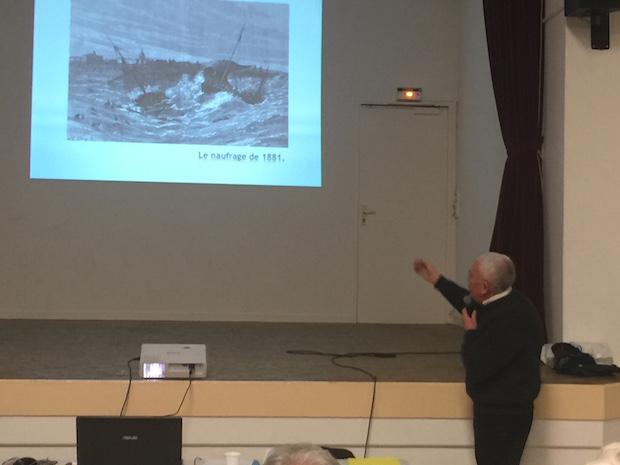 Alain Gérard durant sa conférence AG Olona