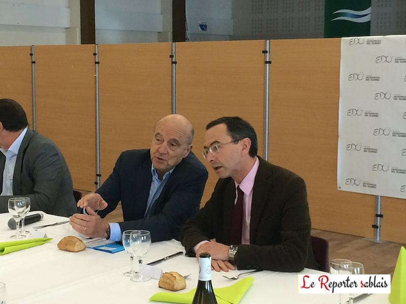 Alain Juppé et Bruno Retailleau à Olonne-sur-Mer