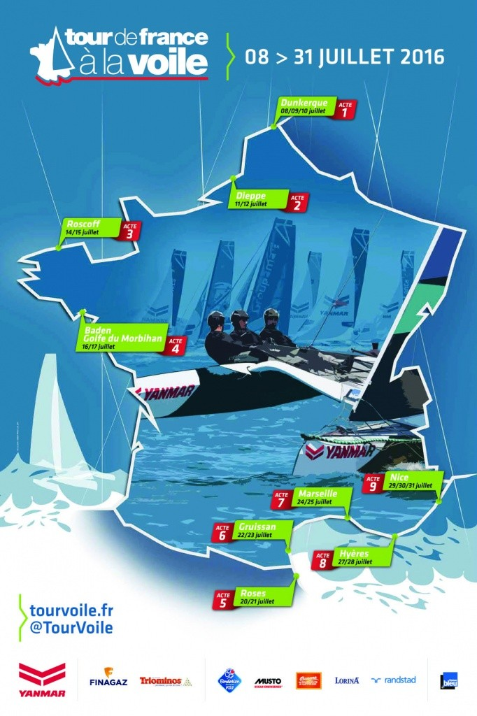 Carte du Tour de France à la Voile 2016
