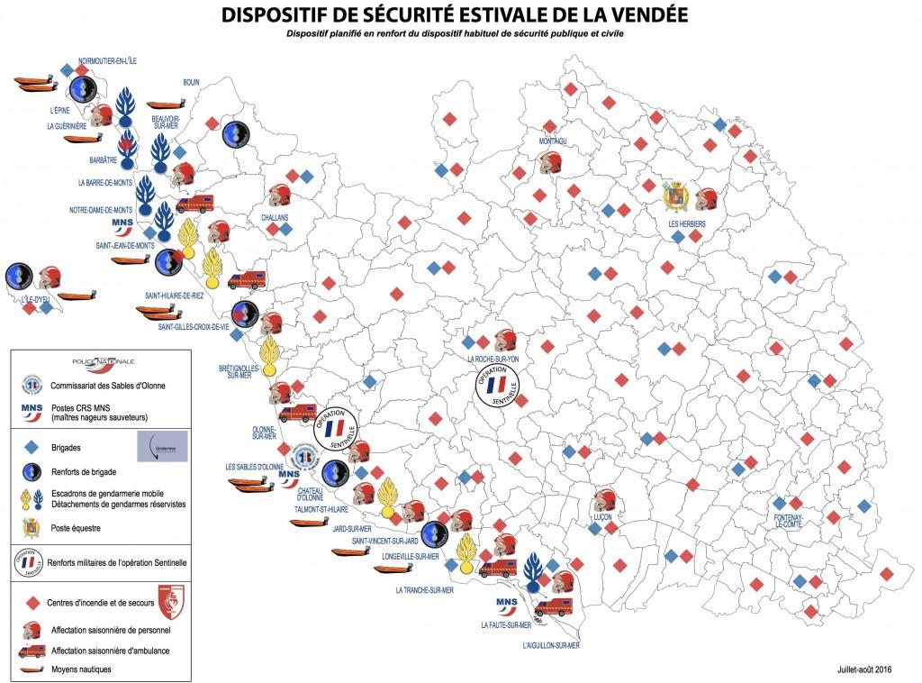 Dispositif de sécurité en Vendée -- Eté 2016