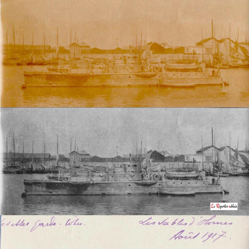 Garde Côte Les Sables d'Olonne en août 1917