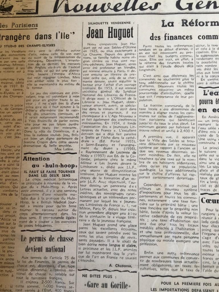 Biographie de Jean Huguet