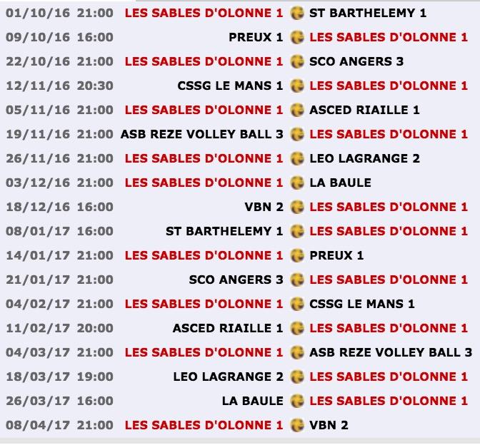 Pré-Nationale Volley-Ball Pays de Loire Les Sables d'Olonne