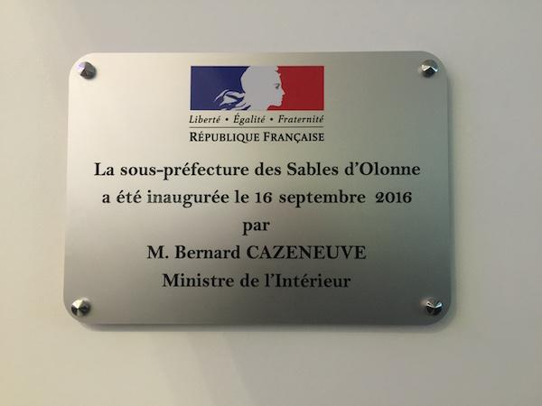 Inauguration sous-Préfecture Les Sables d'Olonne