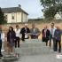 1ère pierre Lotissement des Roses - Brigitte Tesson, Didier Gallot, Philippe Justeau et Geoffroy de Baynast