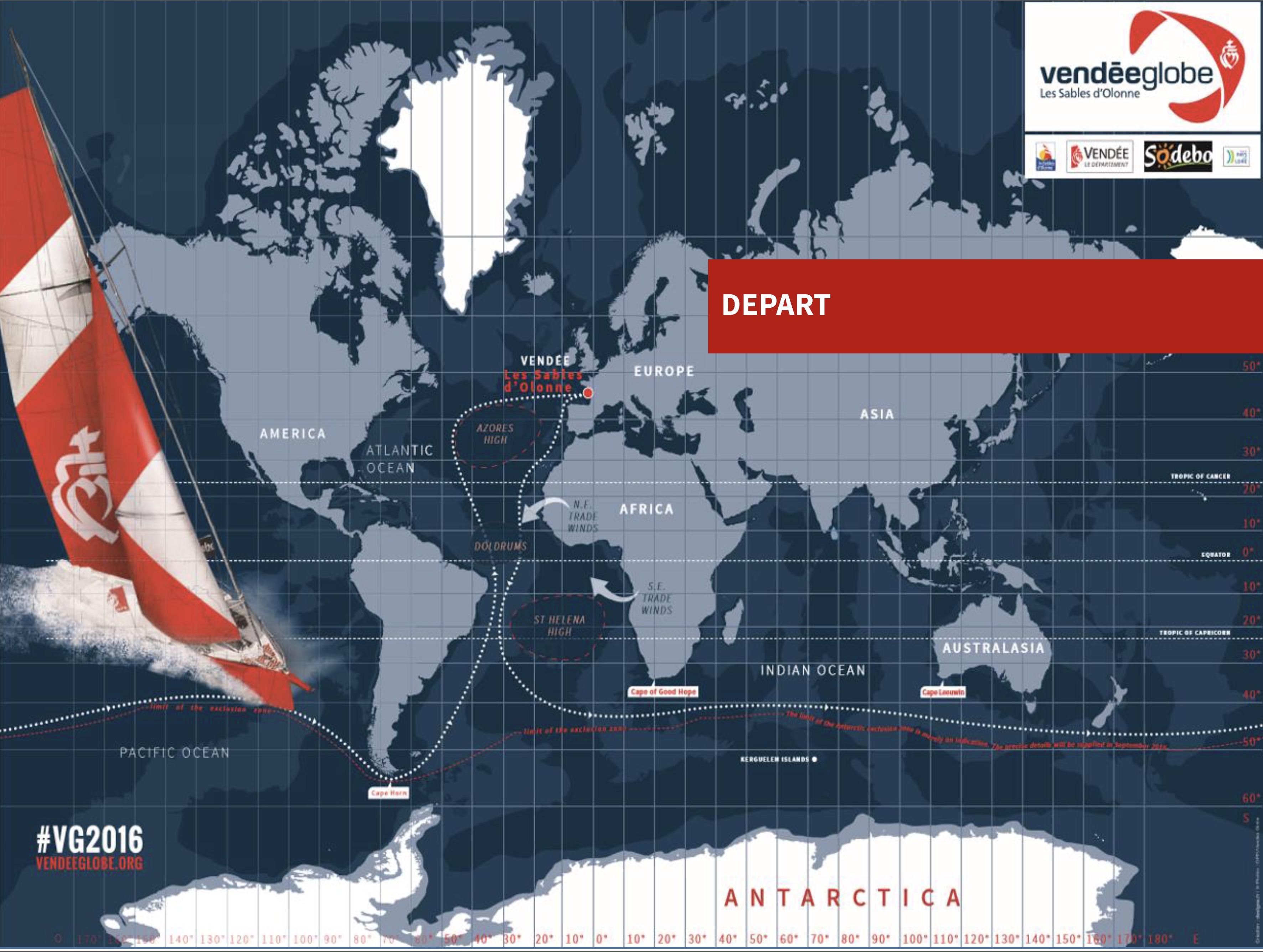 Decouvrez La Carte De La Course Du Vendee Globe Le Reporter Sablais
