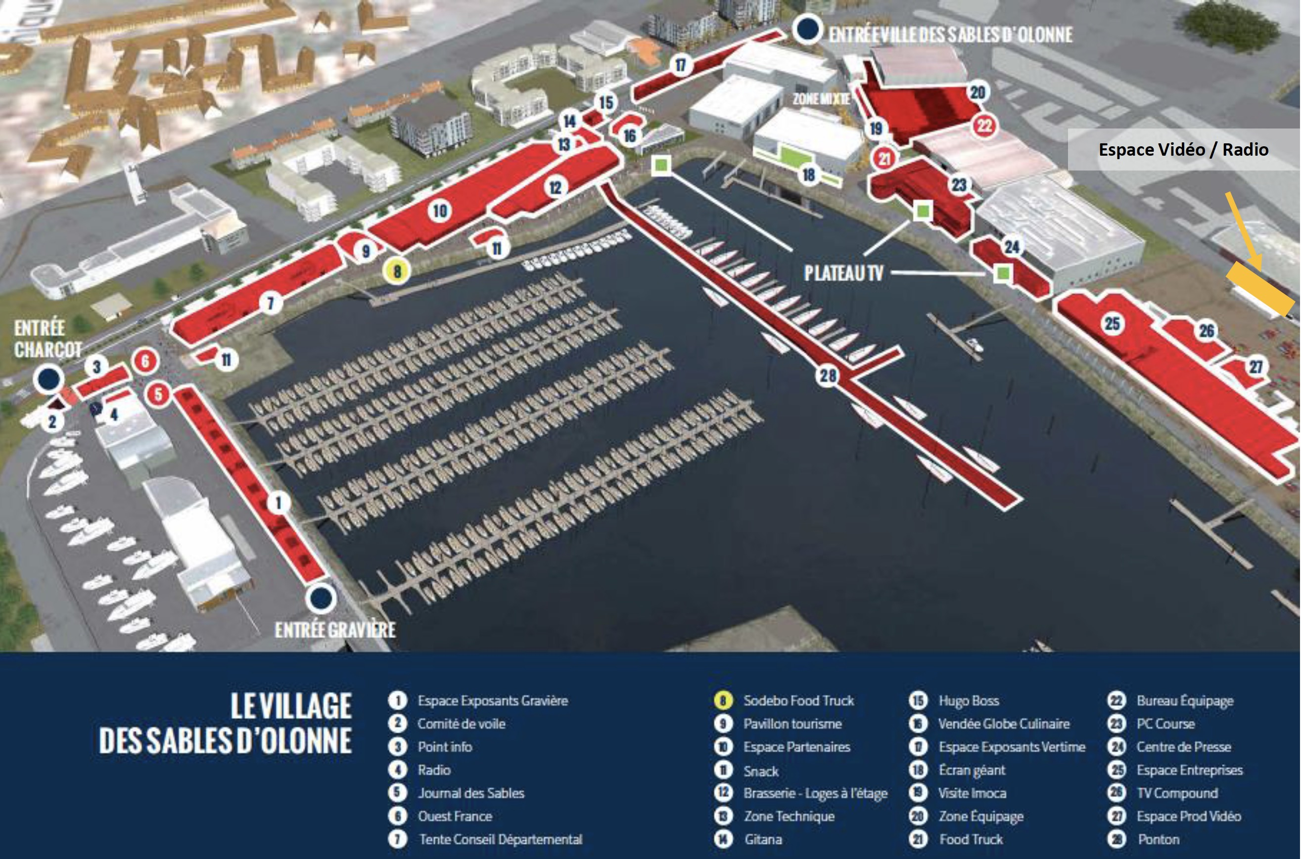 Vendée Globe - Plan du Village 2016