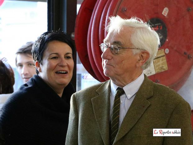 Estelle Grelier et Didier Gallot au marché Arago