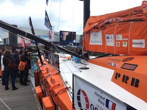 PRB amarré au ponton du Vendée Globe - 18 octobre 2016