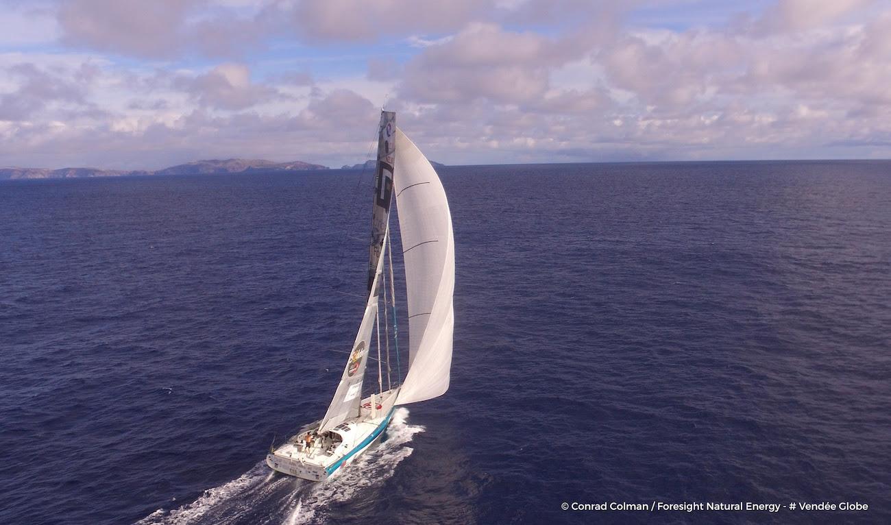 Photo de Conrad Colman envoyée depuis le bateau Foresight Natural Energy le 9 Novembre 2016