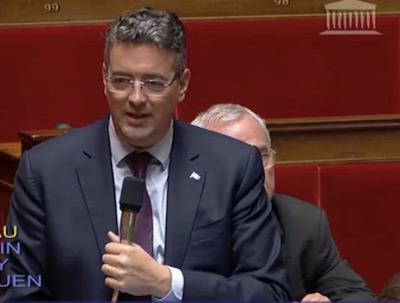 Yannick Moreau à l'Assemblée nationale
