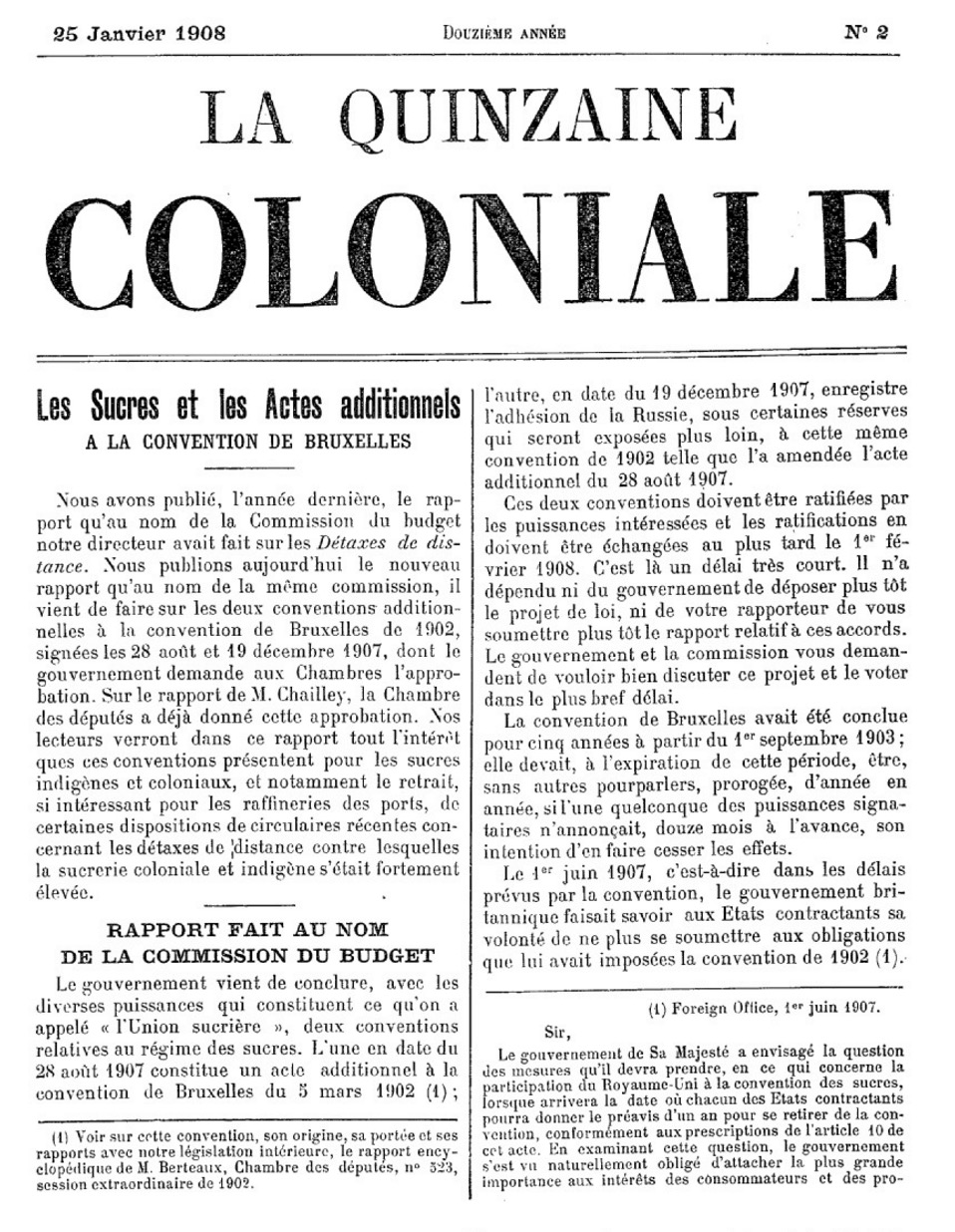 quinzaine coloniale